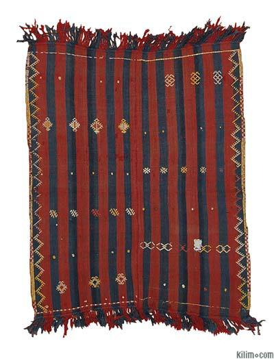 Vintage Malatya Sofreh Rug - 3'3'' x 3'11'' (39 in. x 47 in.)