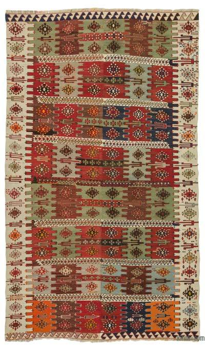 Multicolor Antique Malatya Kilim Rug