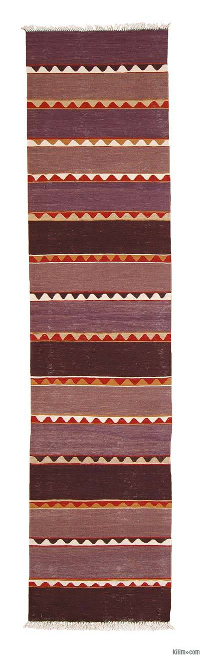 Purple New Turkish Kilim Runner Rug