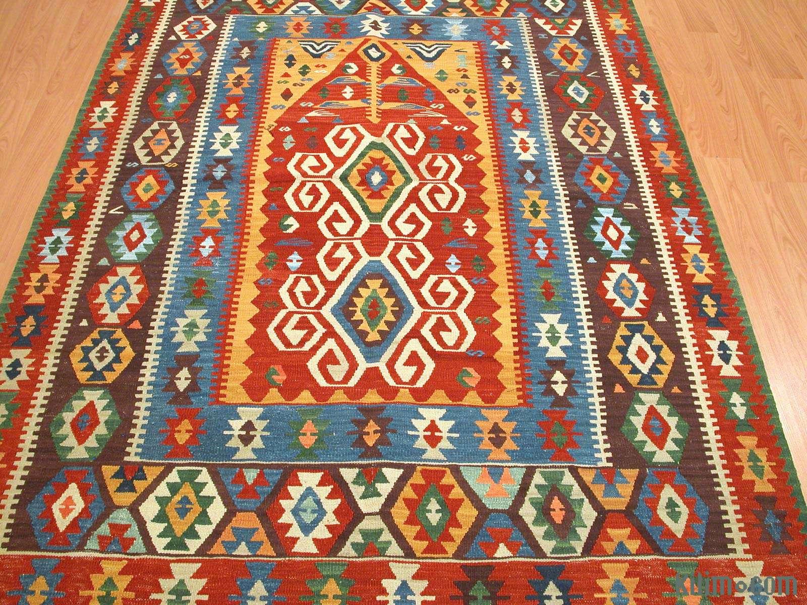 K0003868 Multicolor New Handwoven Turkish Kilim Rug