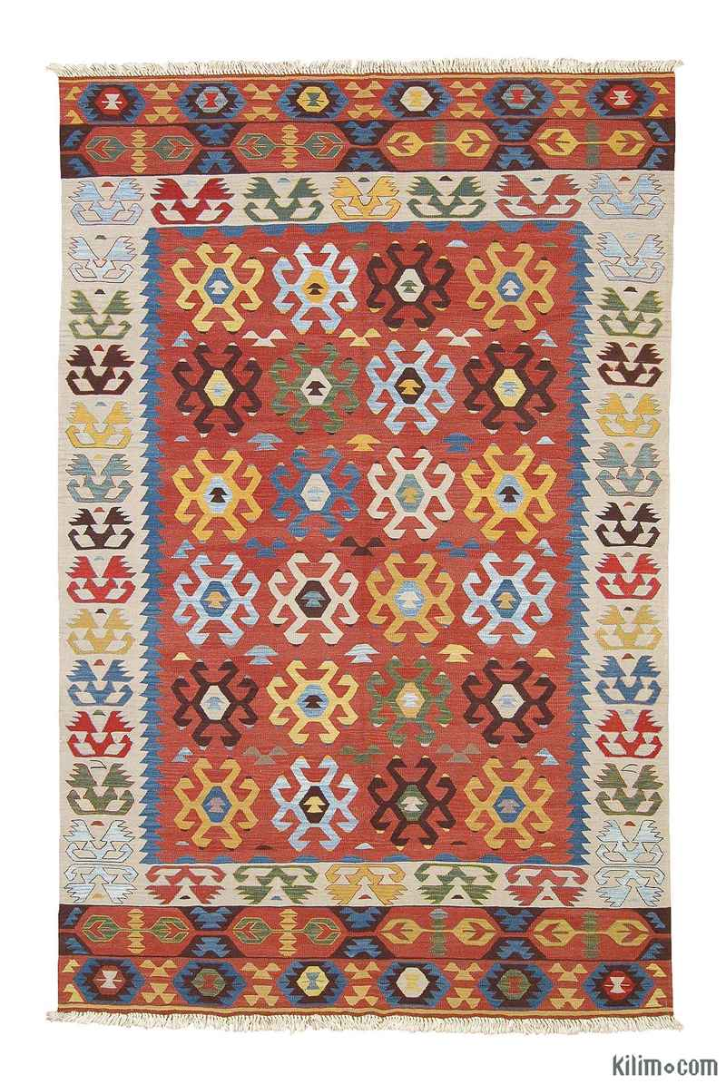 K0003877 Multicolor New Turkish Kilim Area Rug