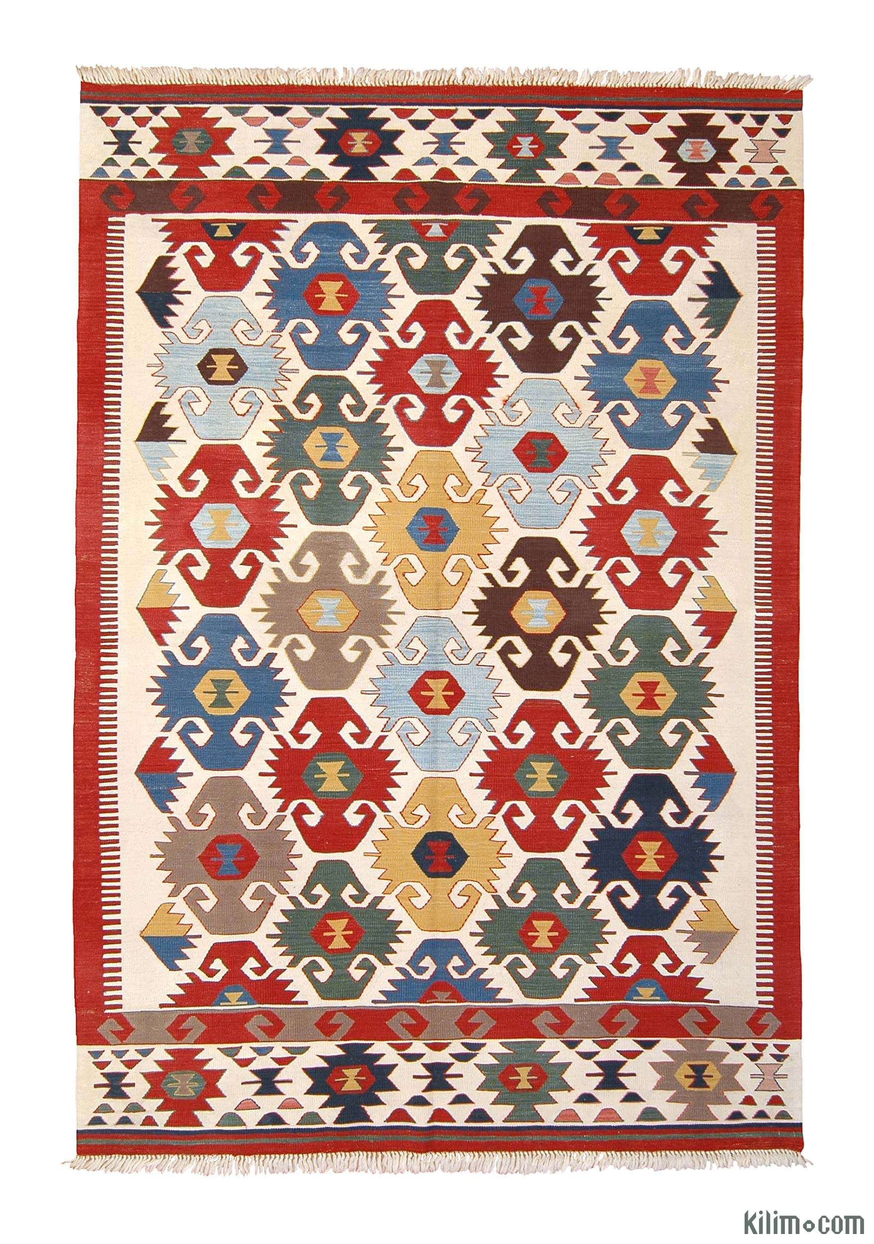 k0003904 multicolor new turkish kilim area rug. Black Bedroom Furniture Sets. Home Design Ideas