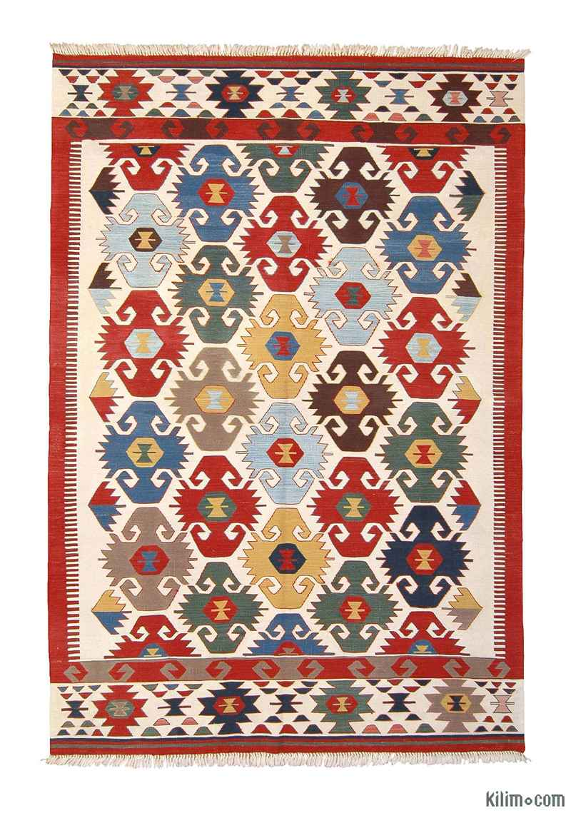 K0003904 Multicolor New Turkish Kilim Area Rug