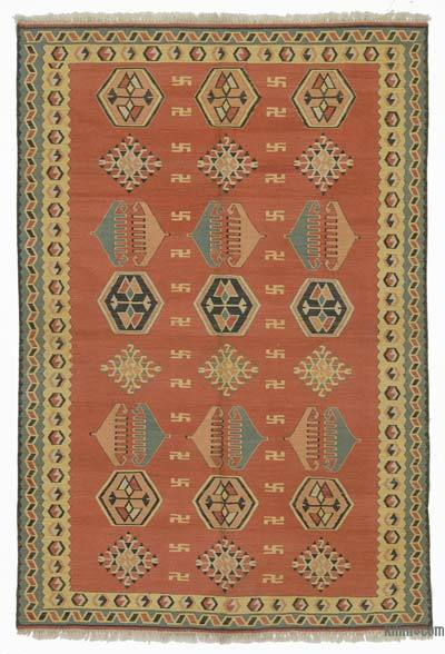 Orange New Turkish Kilim Rug