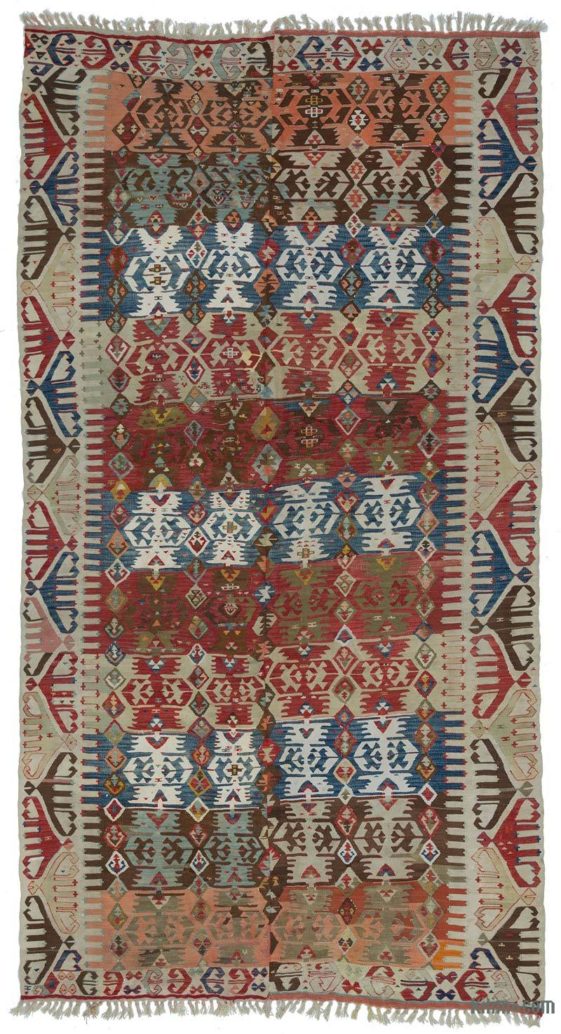 K0004150 Multicolor Antique Malatya Kilim Rug