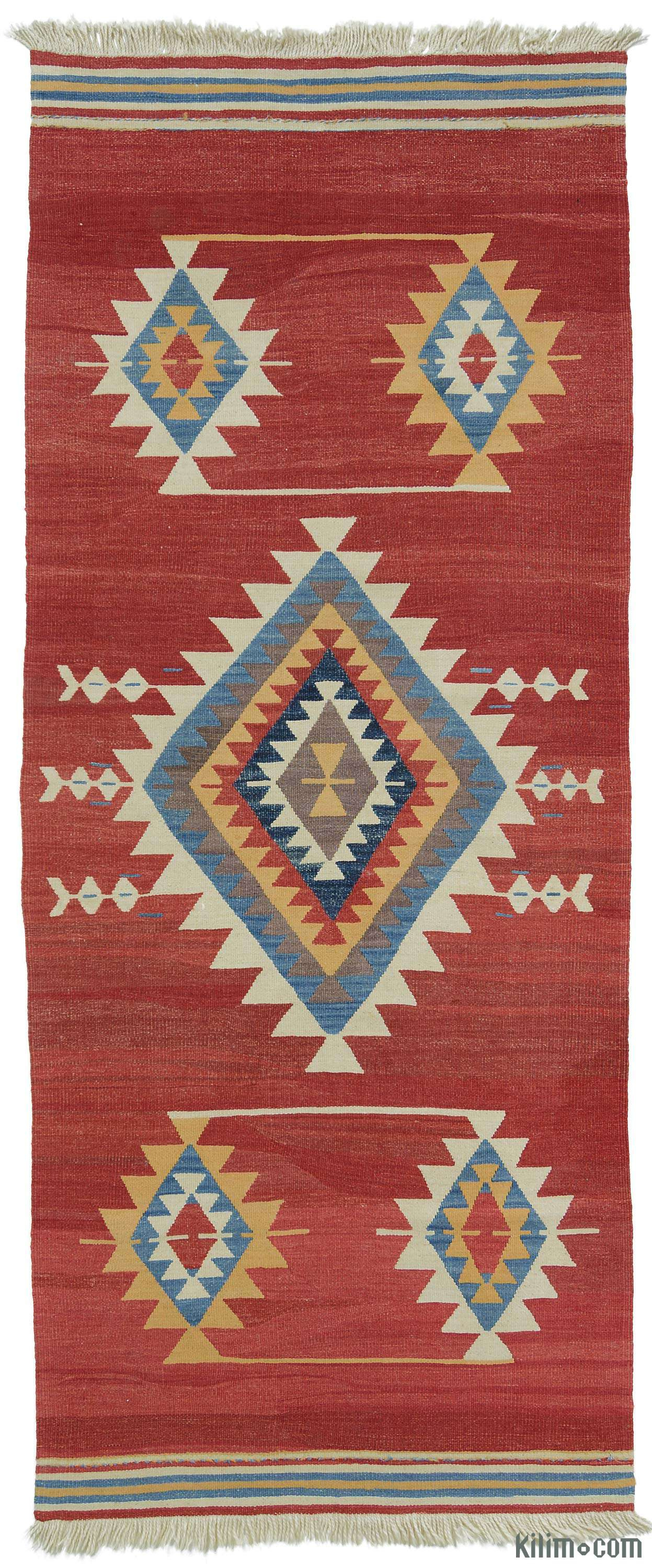 Rugs And Kilims Are The Master Elements Of Bohemian Style: K0004367 Red New Turkish Kilim Runner