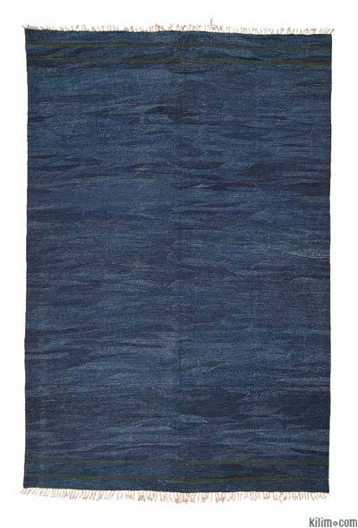 Blue New Turkish Kilim Area Rug