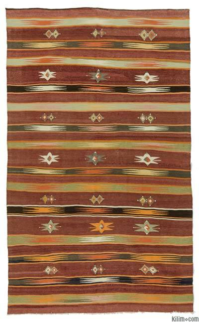 Red Vintage Mut Kilim Rug - 5'1'' x 8'6'' (61 in. x 102 in.)