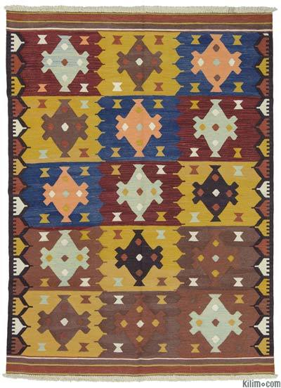 Multicolor New Turkish Kilim Rug - 5'10'' x 7'10'' (70 in. x 94 in.)
