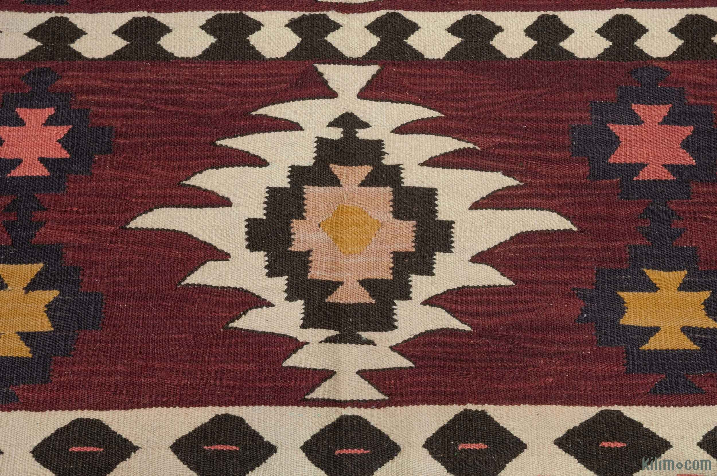 K0004623 Red New Turkish Kilim Rug 5 10 X 8 70 In X