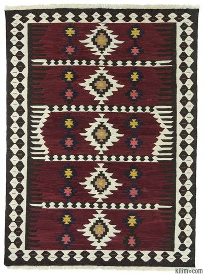 Red New Turkish Kilim Rug - 5'10'' x 8' (70 in. x 96 in.)