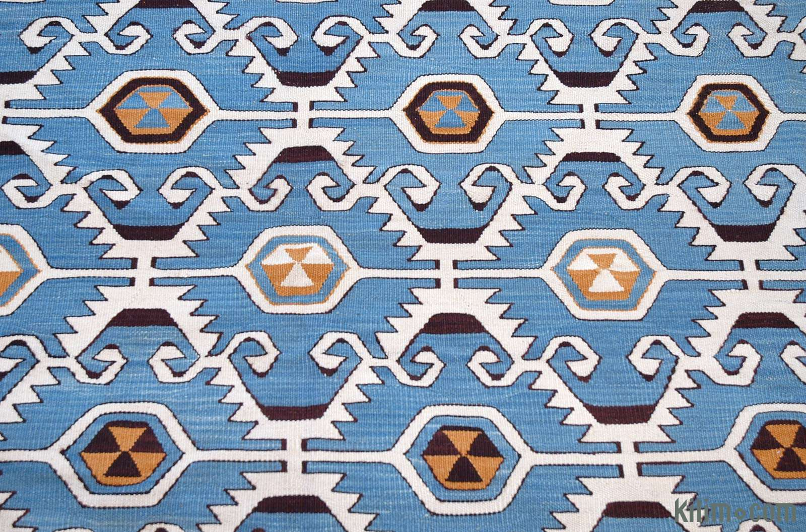 K0004672 Light Blue New Turkish Kilim Rug