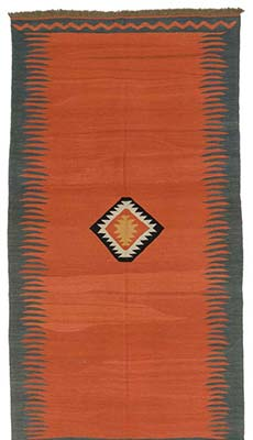 K0013266 Red Vintage Avar Kilim Rug