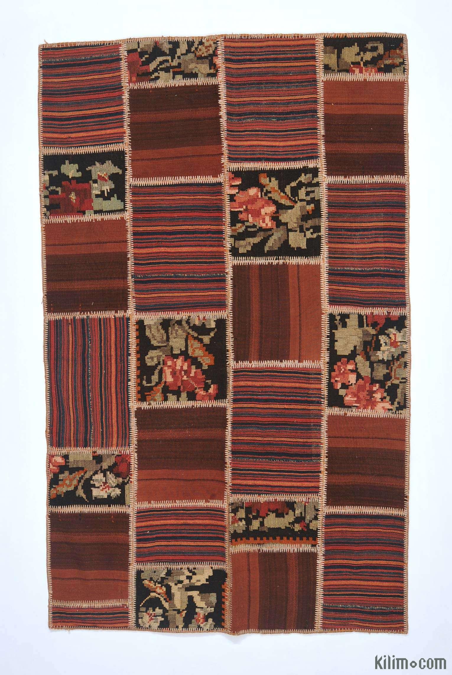 Multicolor Turkish Patchwork Kilim Rug