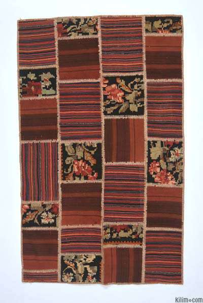 Turkish Patchwork Kilim Rug - 4'4'' x 7'1'' (52 in. x 85 in.)