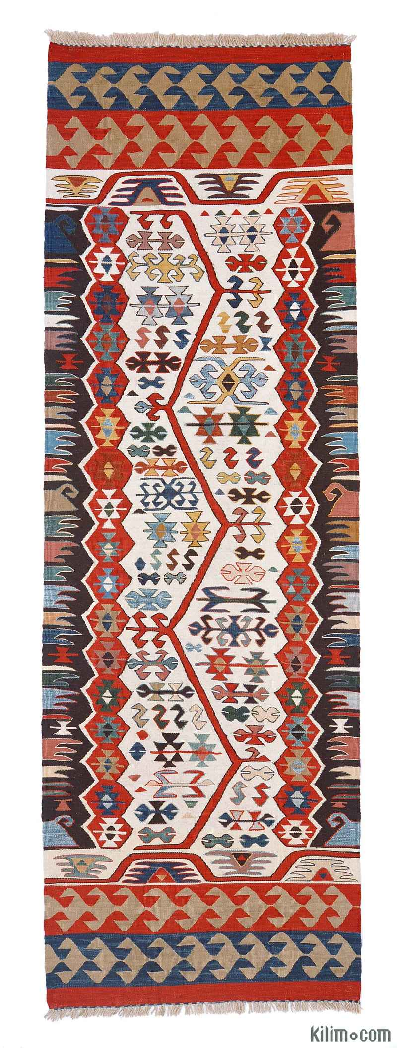 K0004801 Multicolor New Turkish Kilim Runner Rug