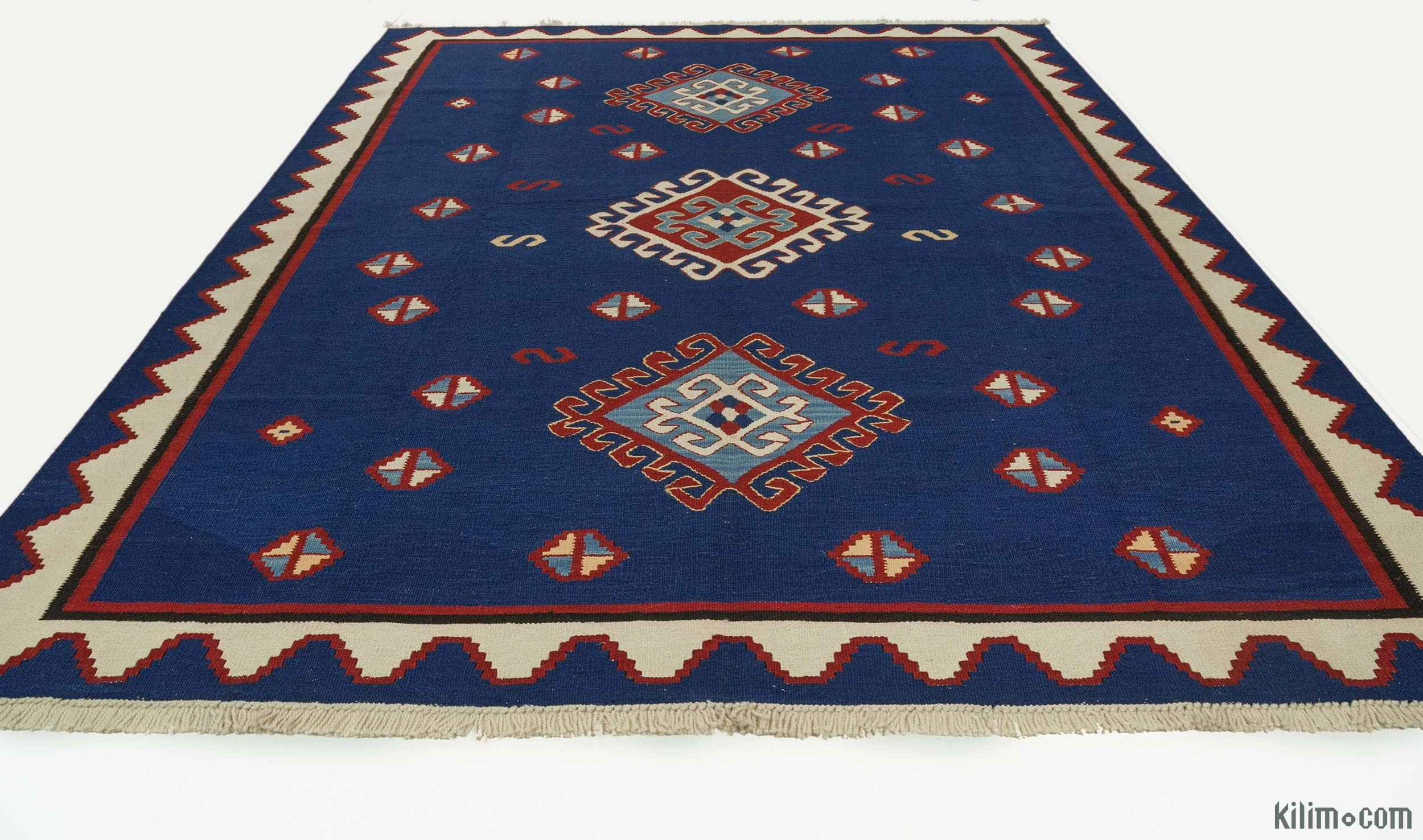 K0004811 Blue New Turkish Kilim Rug