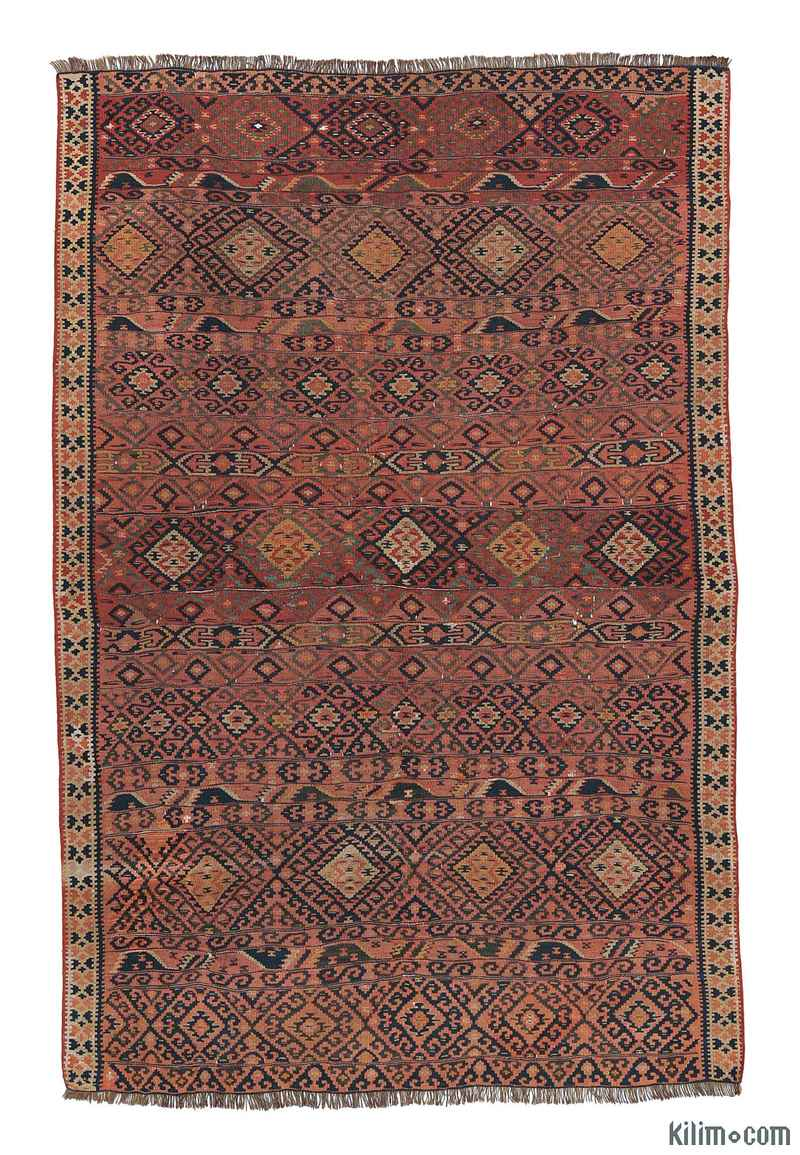 K0004977 Red Antique Van Kilim Rug