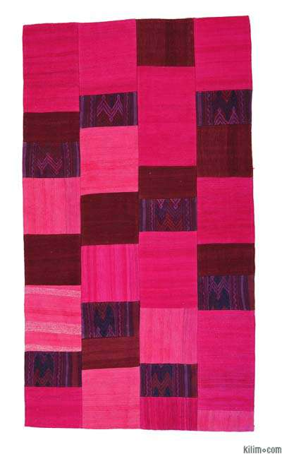Turkish Patchwork Kilim Rug - 3'7'' x 6'4'' (43 in. x 76 in.)