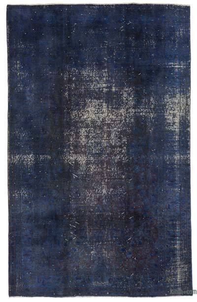 Blue Over-dyed Turkish Vintage Rug - 5'9'' x 9'2'' (69 in. x 110 in.)