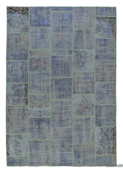 Over-dyed Turkish Patchwork Rug - 6'7'' x 9'6'' (79 in. x 114 in.)
