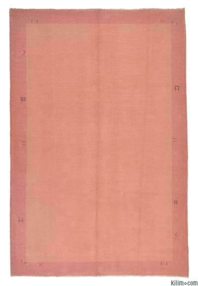 Pink Over-dyed Chinese Vintage Rug - 6'5'' x 9'9'' (77 in. x 117 in.)