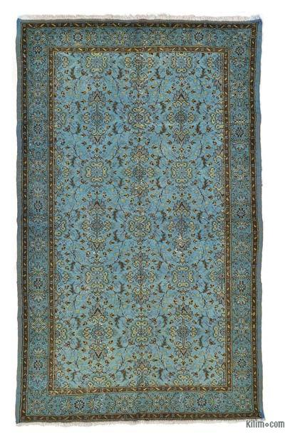 "Overdyed Turkish Vintage Rug - 5'4"" x 8'8"" (64 in. x 104 in.)"