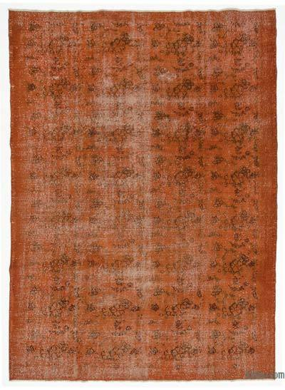 Orange Over-dyed Turkish Vintage Rug - 6'11'' x 9'10'' (83 in. x 118 in.)
