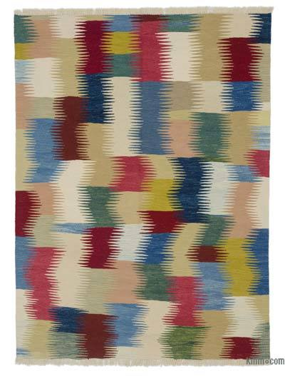 "New Handwoven Turkish Kilim Rug - 5'1"" x 6'9"" (61 in. x 81 in.)"