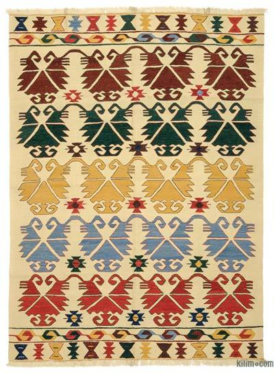 "New Handwoven Turkish Kilim Rug - 6'1"" x 8'2"" (73 in. x 98 in.)"