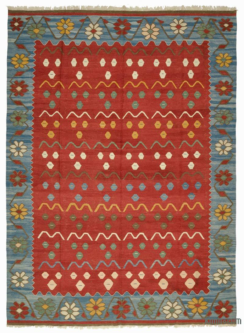 K0005820 Red New Turkish Kilim Rug