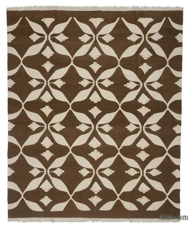 K0005822 Brown New Turkish Kilim Rug
