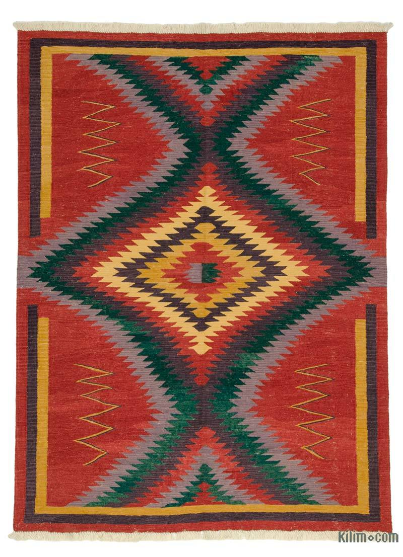 Rugs And Kilims Are The Master Elements Of Bohemian Style: K0005938 Red New Turkish Kilim Rug