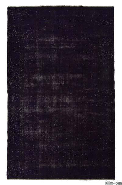 Purple Over-dyed Turkish Vintage Rug - 5'10'' x 9'6'' (70 in. x 114 in.)