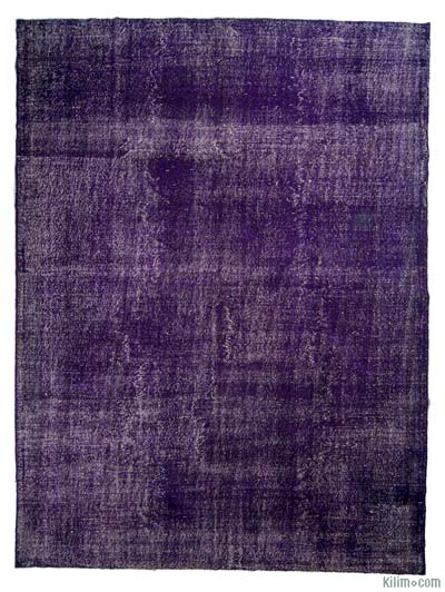 Purple Over-dyed Turkish Vintage Rug - 8' x 10'9'' (96 in. x 129 in.)