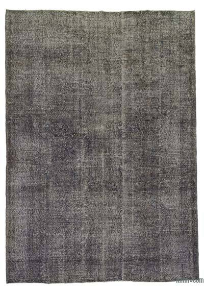 Grey, Purple Over-dyed Turkish Vintage Rug - 7' x 9'10'' (84 in. x 118 in.)