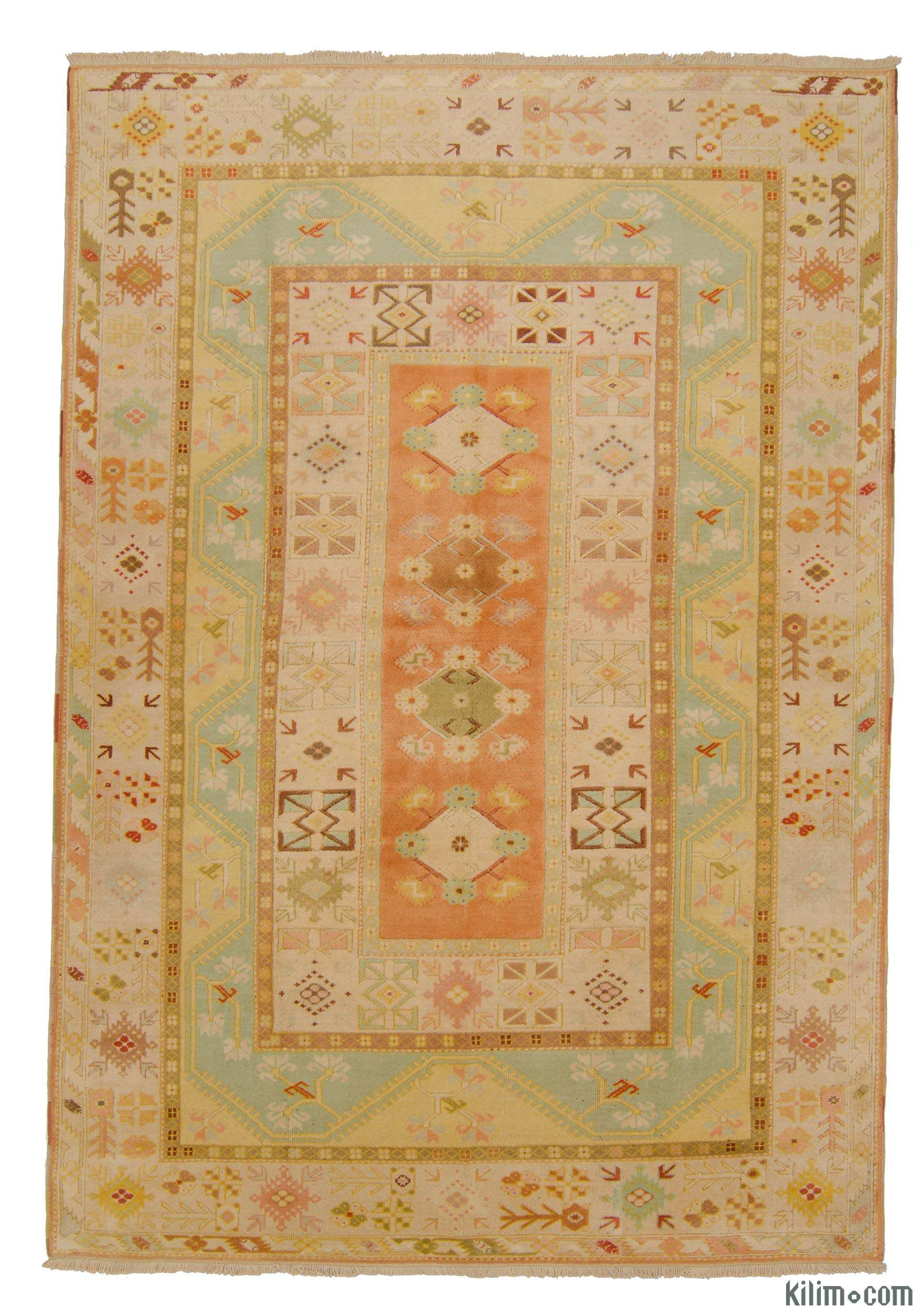 Yellow Orange New Turkish Carpet 6 7 X 9 5 79 In 113