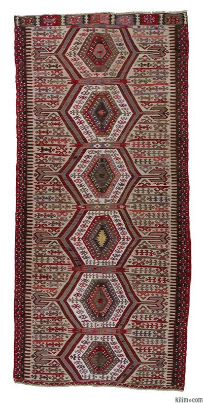 Red Antique Aydin Kilim