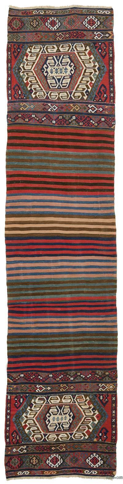 Multicolor Antique Malatya Kilim Runner