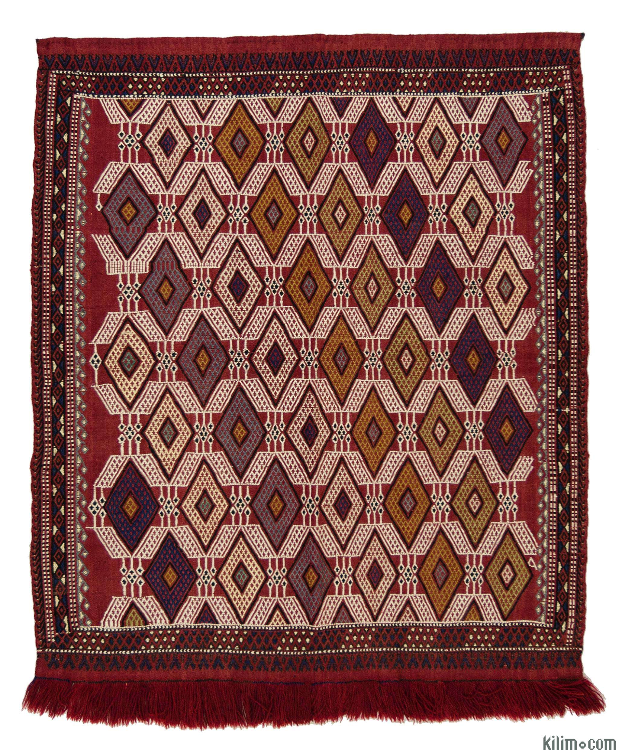 Kilim Rugs, Overdyed Vintage Rugs, Hand-made