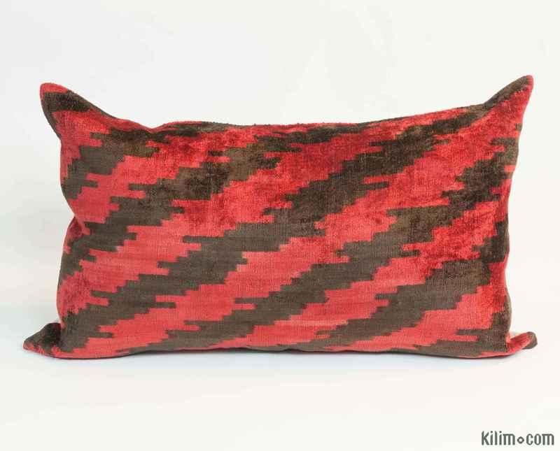 K0006564 Velvet Ikat Pillow Cover 1 2 Quot X 1 11 Quot 14 In X