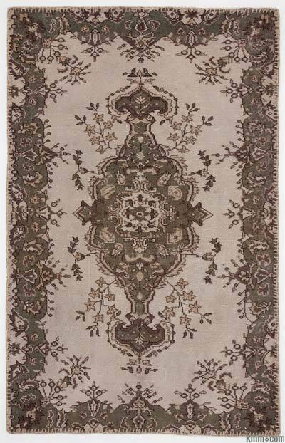 "Over-dyed Turkish Vintage Rug - 3'11"" x 6'3"" (47 in. x 75 in.)"