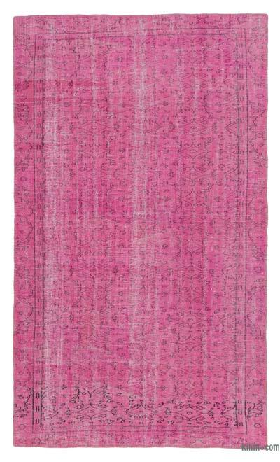 Over-dyed Turkish Vintage Rug - 5'3'' x 8'10'' (63 in. x 106 in.)