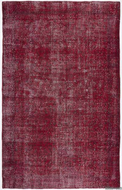 "Over-dyed Turkish Vintage Rug - 6'5"" x 10'1"" (77 in. x 121 in.)"
