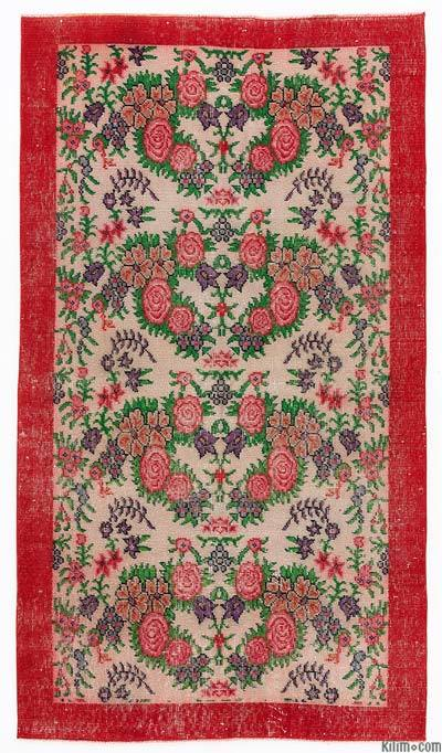 "Turkish Vintage Area Rug - 3'8"" x 6'6"" (44 in. x 78 in.)"