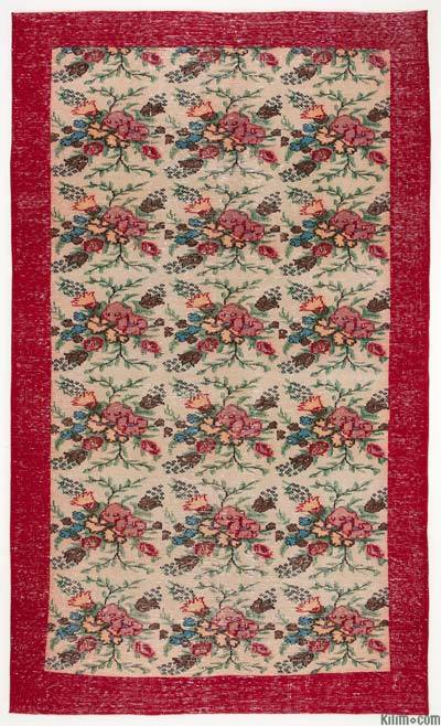 "Turkish Vintage Area Rug - 5'9"" x 10' (69 in. x 120 in.)"