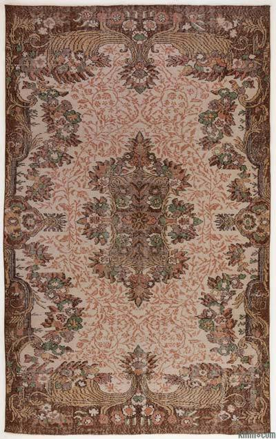 "Turkish Vintage Area Rug - 6' x 9'8"" (72 in. x 116 in.)"