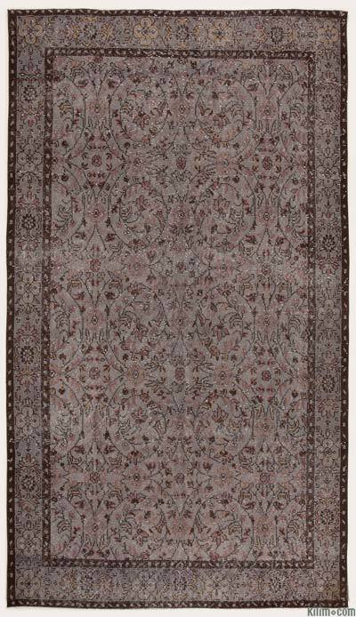 "Over-dyed Turkish Vintage Rug - 5'7"" x 9'10"" (67 in. x 118 in.)"