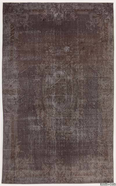 Grey Over-dyed Turkish Vintage Rug - 5'8'' x 9'3'' (68 in. x 111 in.)