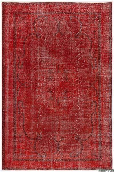 "Over-dyed Turkish Vintage Rug - 6'2"" x 9'5"" (74 in. x 113 in.)"